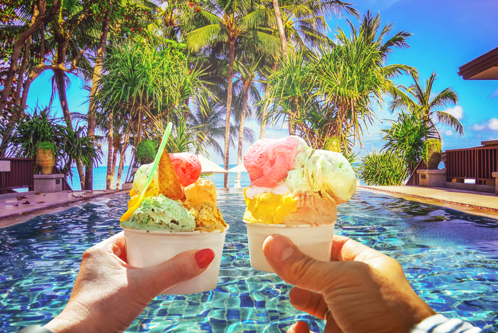 Glace am pool