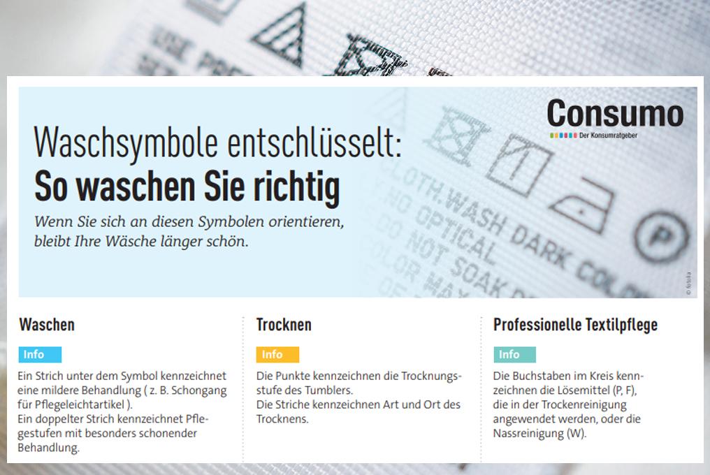 Waschsymbole Consumo Ch Informations Sur La Consommation Guide D